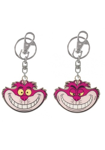 Cheshire Cat Pewter Keychain