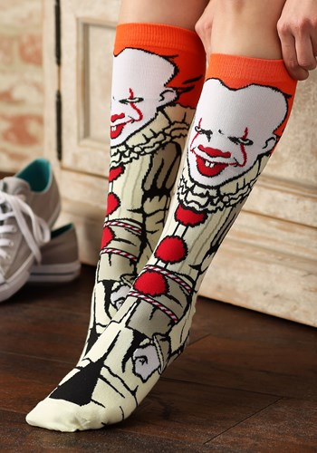 Pennywise IT Movie Crew Socks for Adults