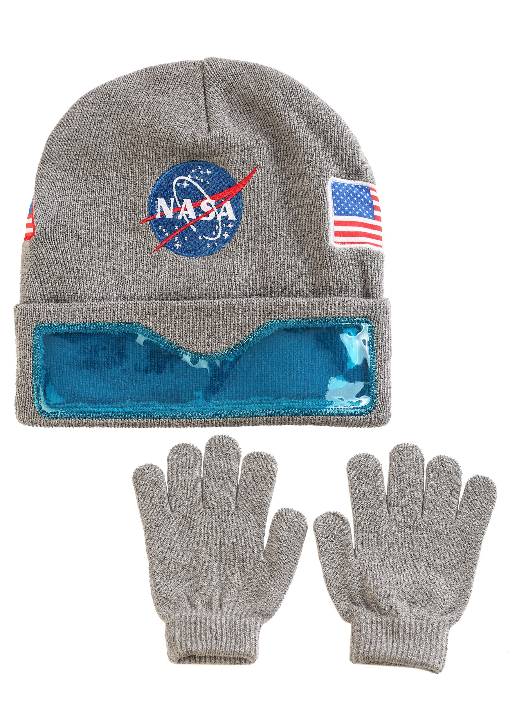 NASA Convertible Cuff with Clear Visor Ski Hat and Gloves for kids 2a1923d0a4c