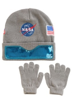 NASA Convertible Cuff w/ Clear Visor Youth Ski Hat & Gloves