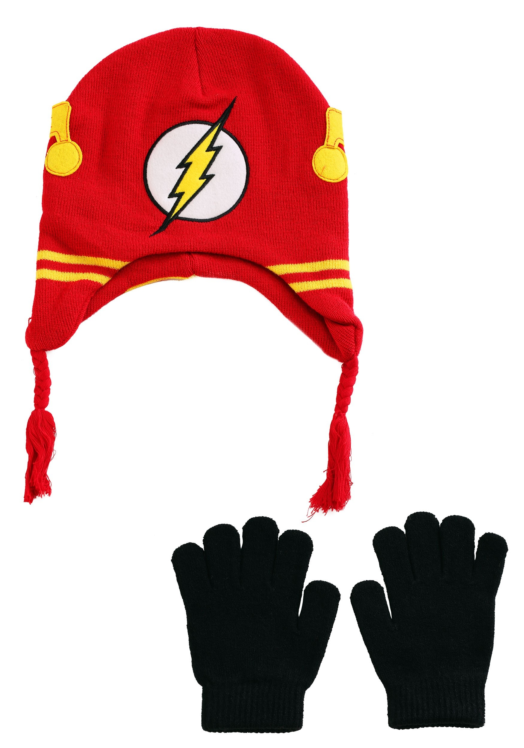 80336369c0ee17 DC Comics Flash Knit Youth Hat with Gloves update