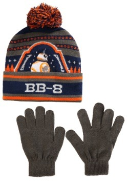 Star Wars BB8 Boy's Knit Ski Hat and Gloves
