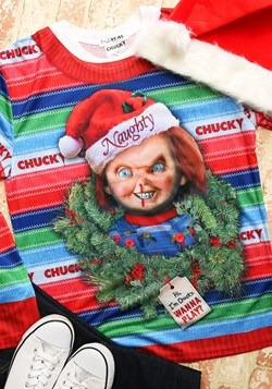 Chucky Long Sleeve Ugly Christmas Tee