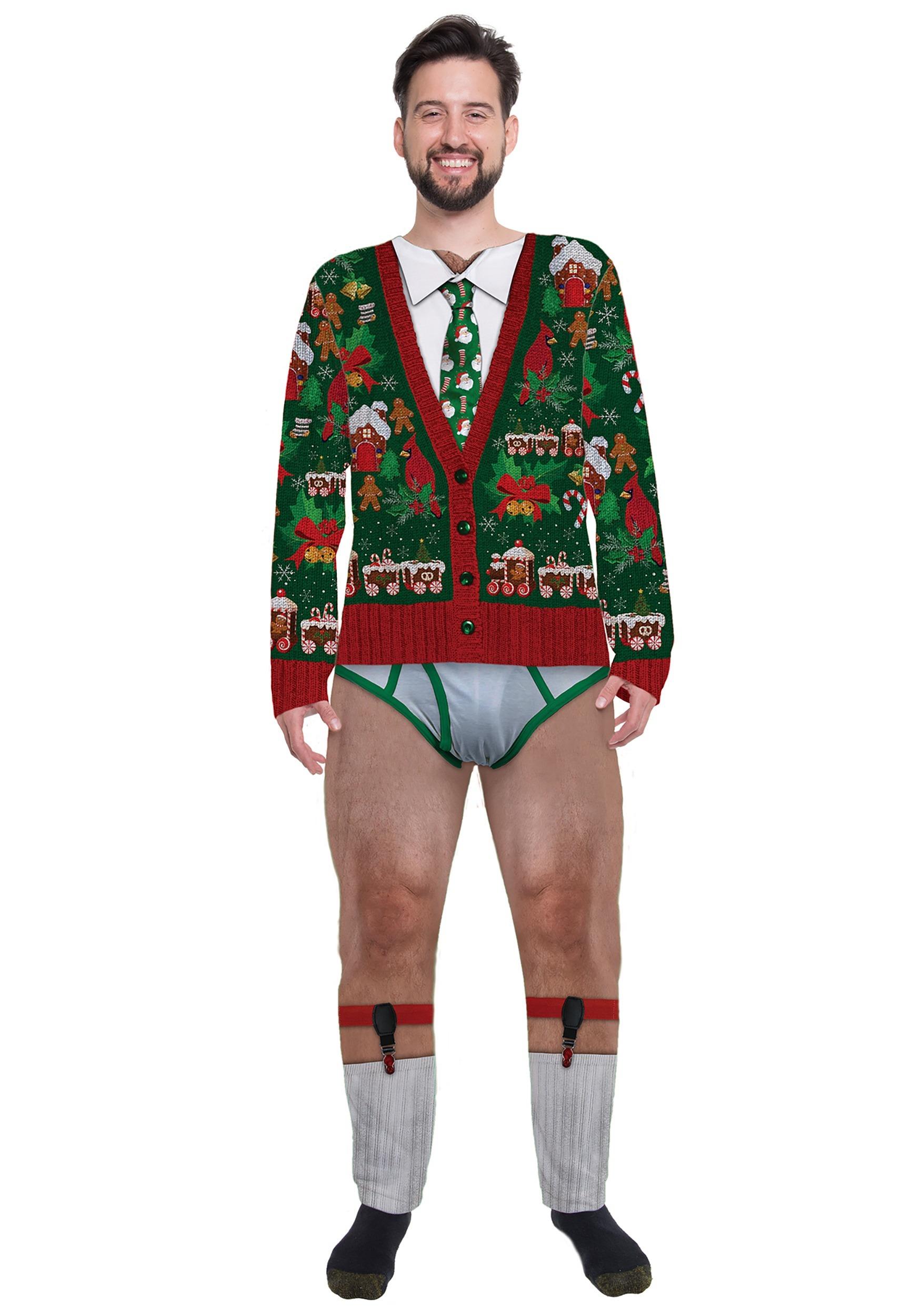 Christmas Cardigan.Christmas Cardigan Men S Jumpsuit