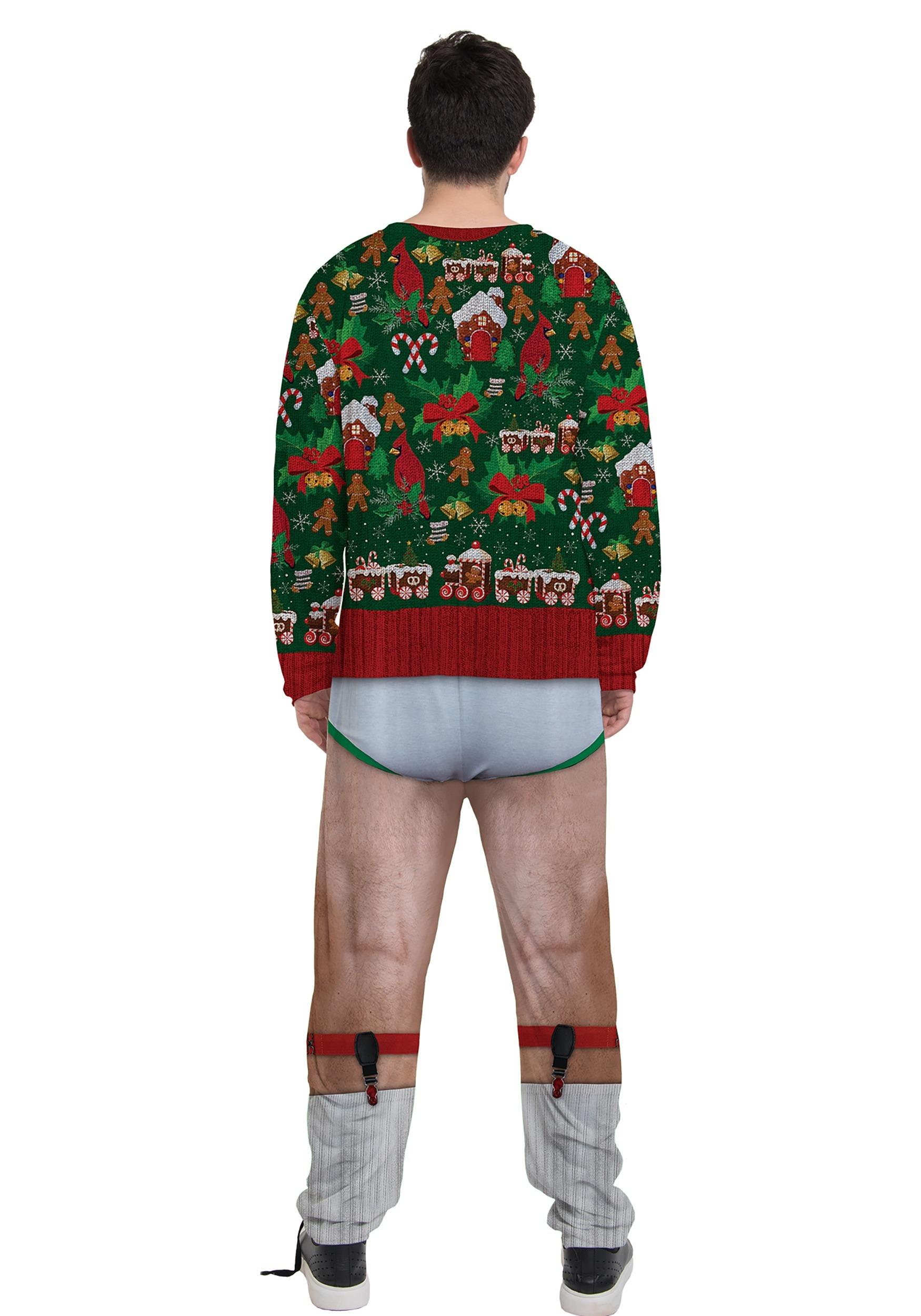 Mens Christmas Cardigan Jumpsuit