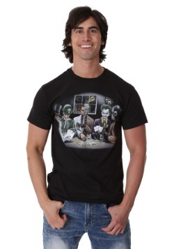 Batman Villains Playing Poker Men's T-Shirt