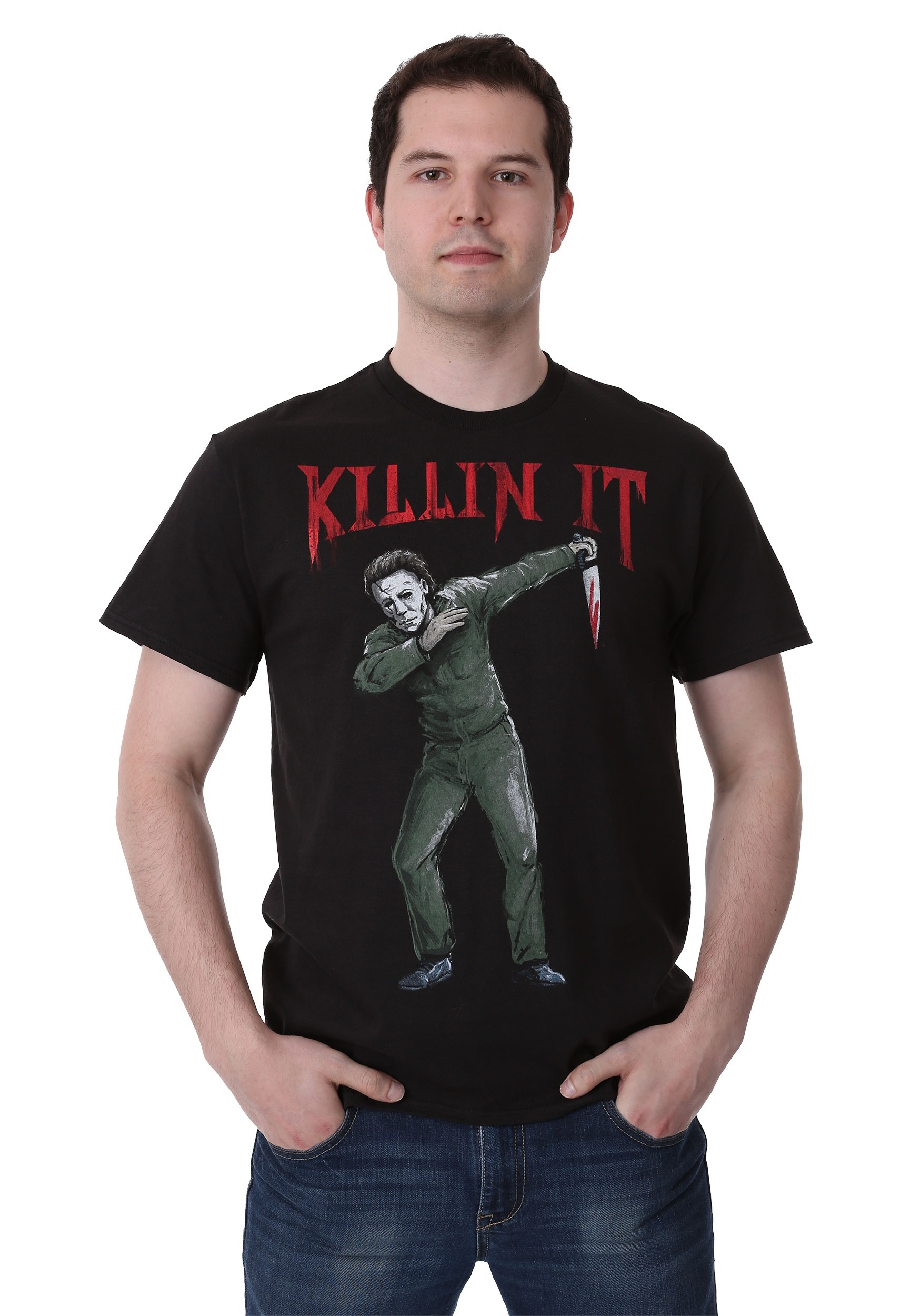 Mens Michael Myers Dab Killin It T Shirt