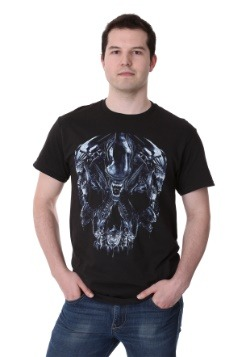 Alien Skull Montage Men's T-Shirt