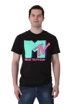 Men's Cyan MTV T-Shirt1