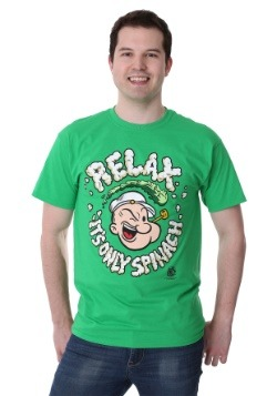 Men's Popeye Relax It's Only Spinach Green T-Shirt1