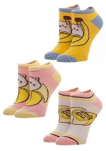 Bananya 3 Pack Juniors Ankle Socks