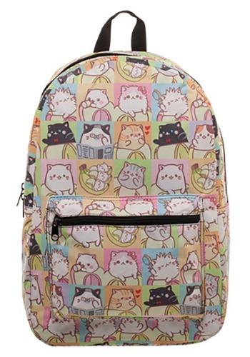 Bananya Tile Cat Sublimated Backpack1
