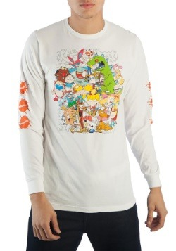 Nickelodeon 90s Characters Group Long Sleeve Tee1