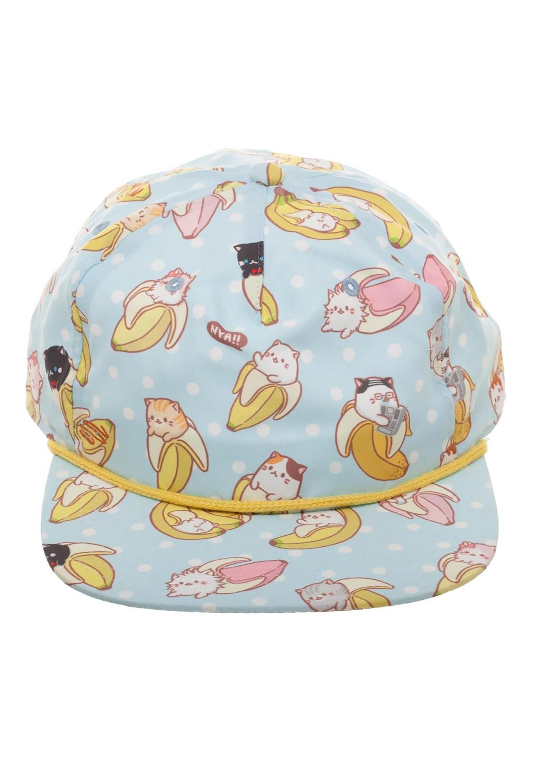 0b0de334e42 Unisex Bananya All-Over Sublimated Print Snapback Hat