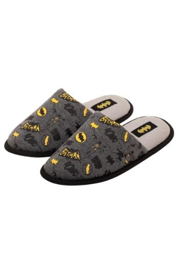 Adult Batman All Over Print Scuff Slippers