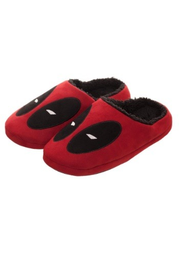 Marvel Deadpool Red Scuff Adult Slippers1