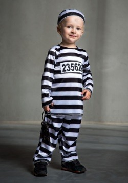 Striped Prisoner Toddler Costume Update Main