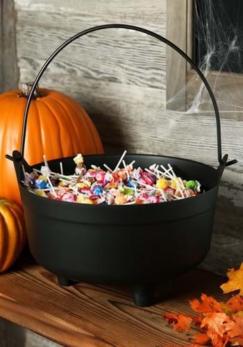 "Black Cauldron Halloween Decoration 14"""
