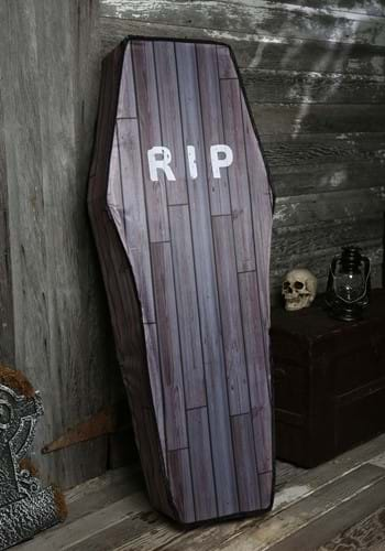 Coffin Decoration 5 Foot Collapsible Wood Grain Look