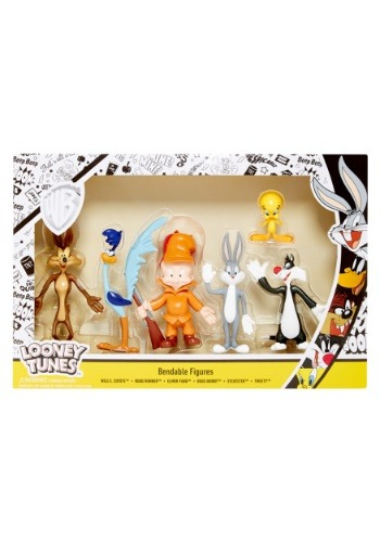 Looney Tunes 6pc Bendable Box Set