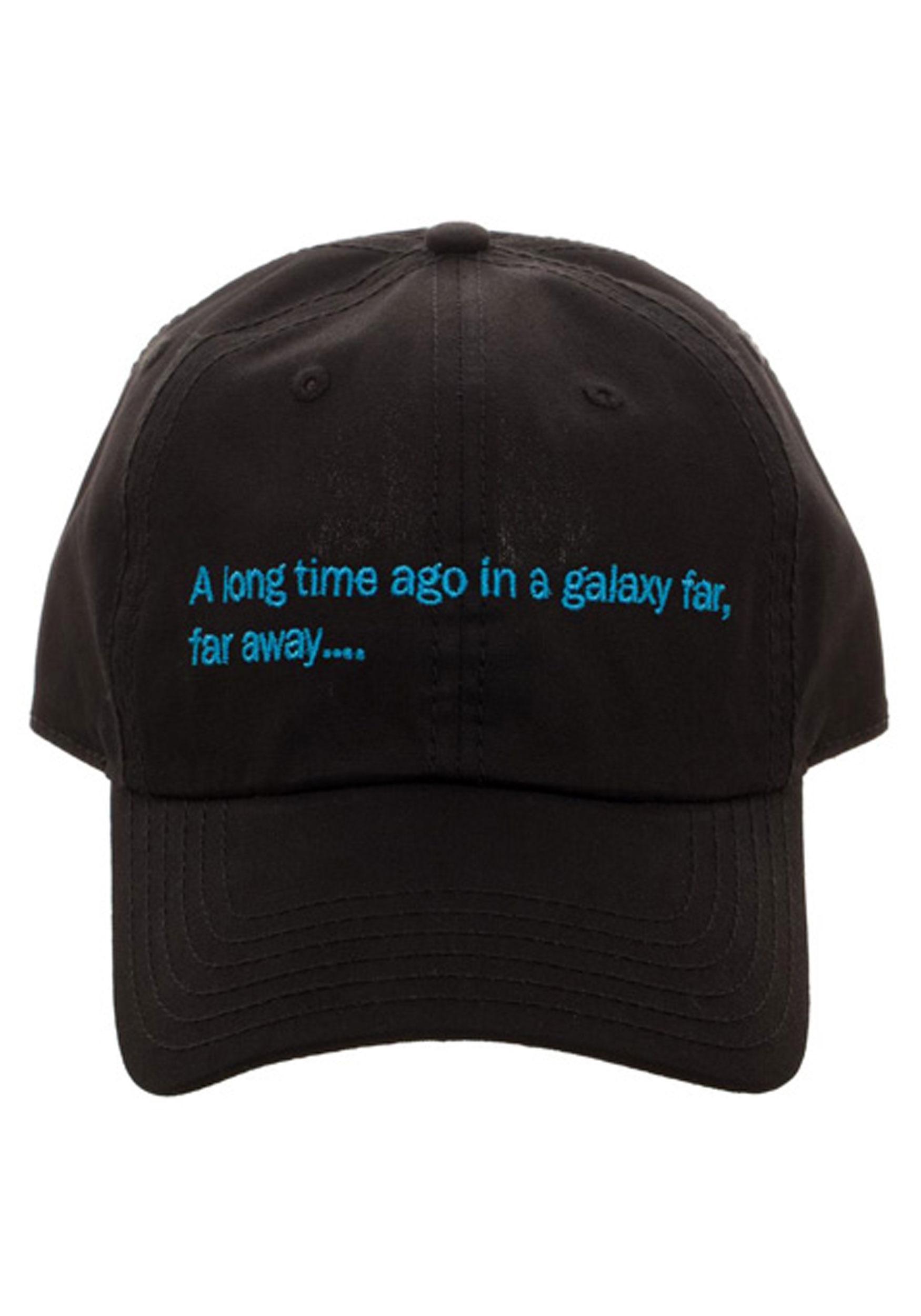Star Wars A Long Time Ago Crawl Black Dad Hat1 2edf13c7f49