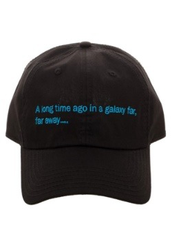 Star Wars A Long Time Ago Crawl Black Dad Hat1