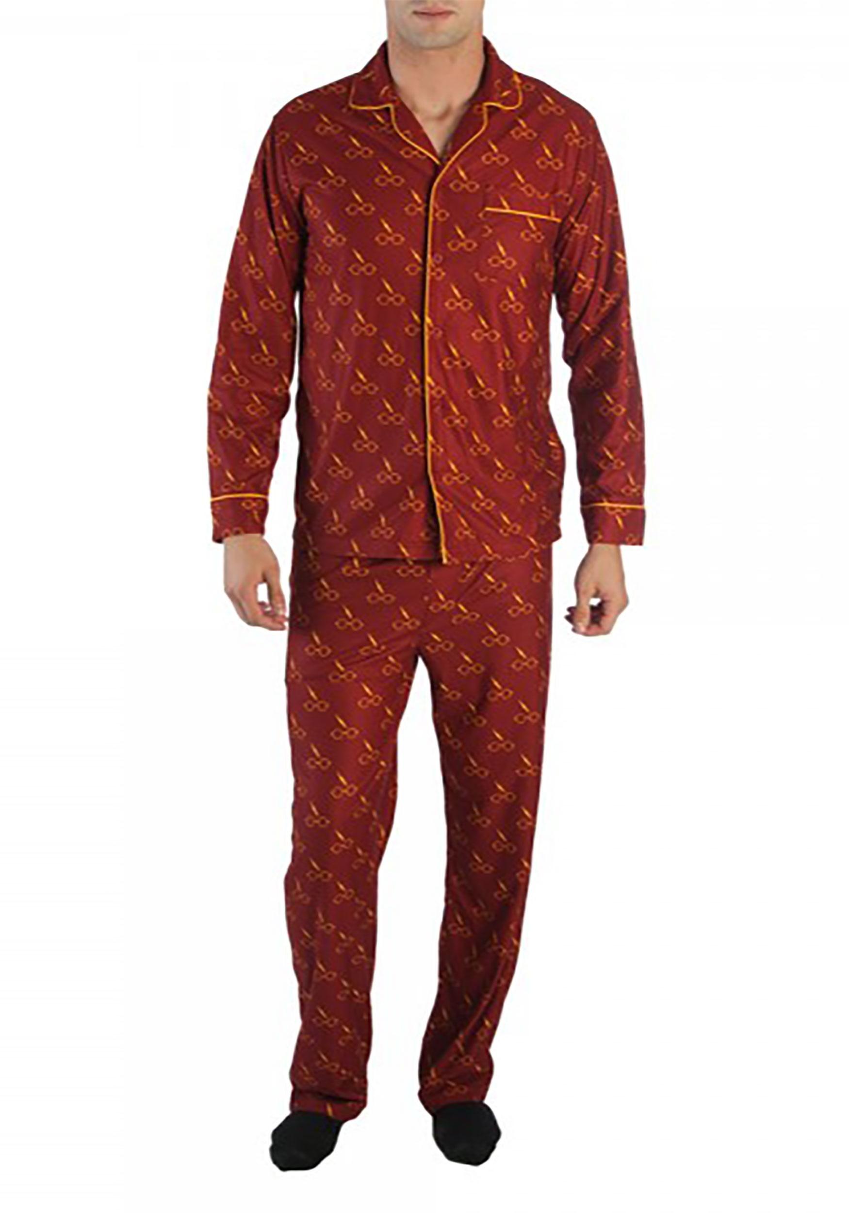 232fe6951866 Men s Harry Potter All Over Print Pajama Shirt and Pants Set