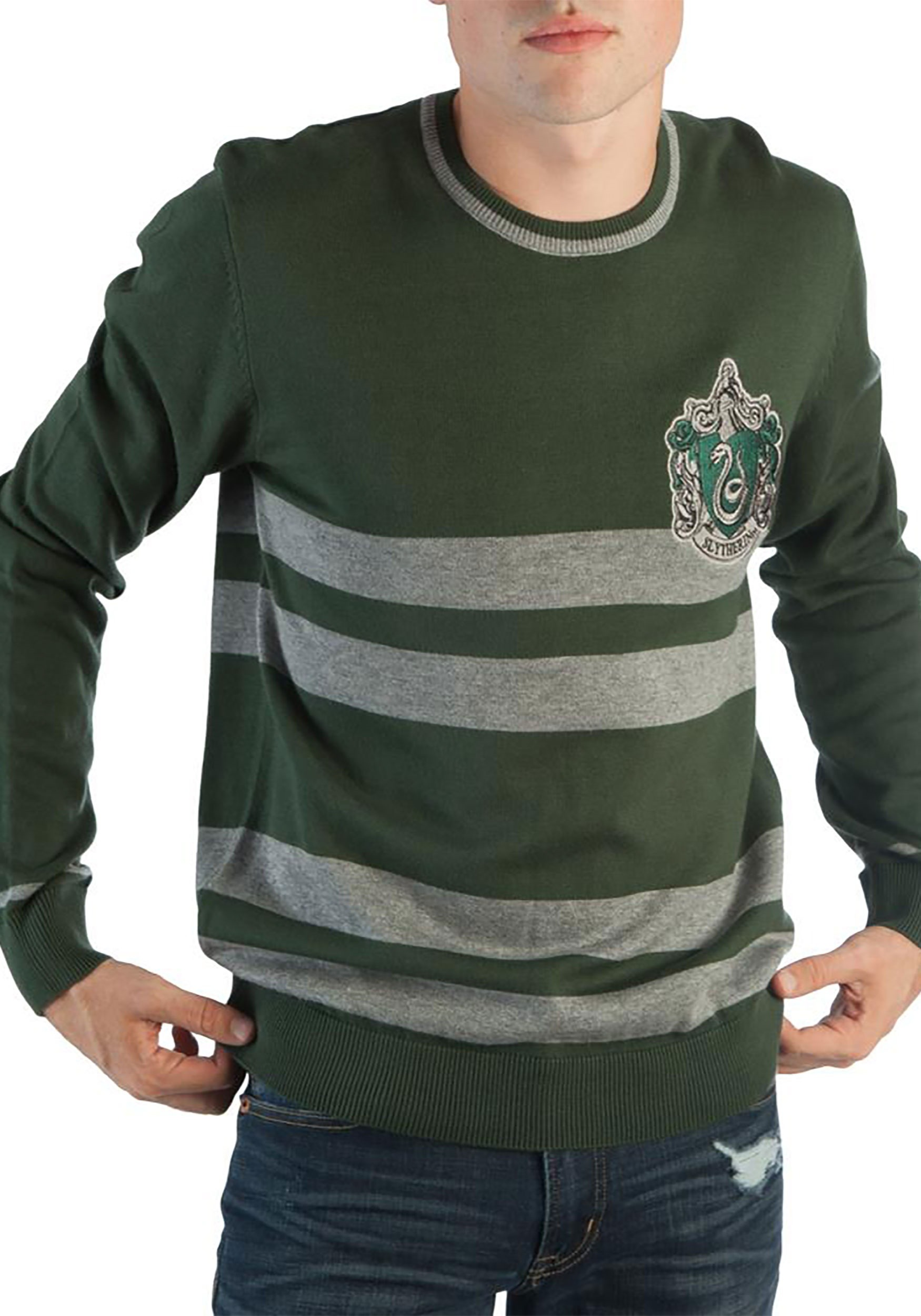 1688052594b Harry Potter Slytherin Men's Jacquard Sweater