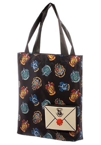 Harry Potter Crest Packable Tote Bag1