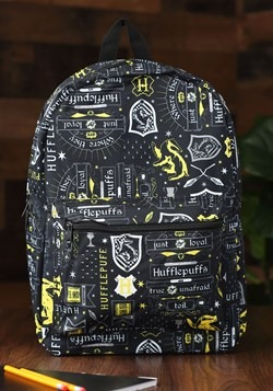 Harry Potter Icon Print Hufflepuff Backpack1
