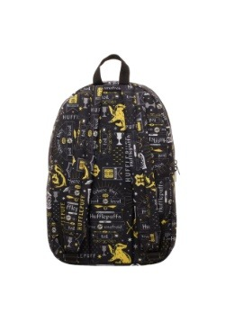 Harry Potter Icon Print Hufflepuff Backpack4