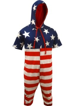 American Flag Cropped Union Suit