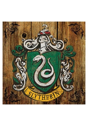 Harry Potter Slytherin Crest Rustic Sign