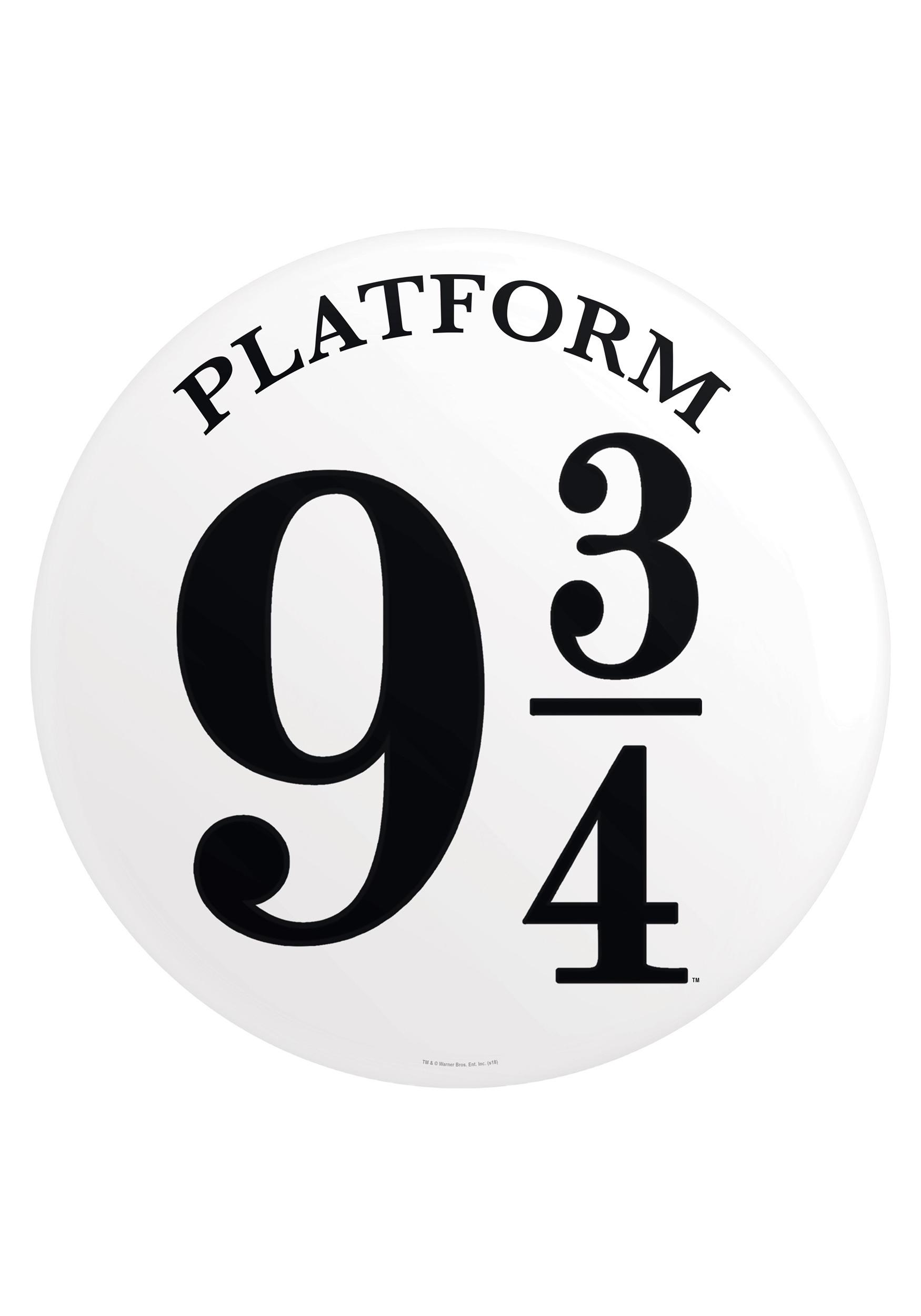 ec402fbf0d19da Harry Potter Platform 9 3 4 Tin Sign