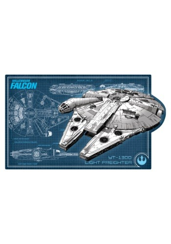 Star Wars Millennium Falcon Schematic Embossed Tin Sign