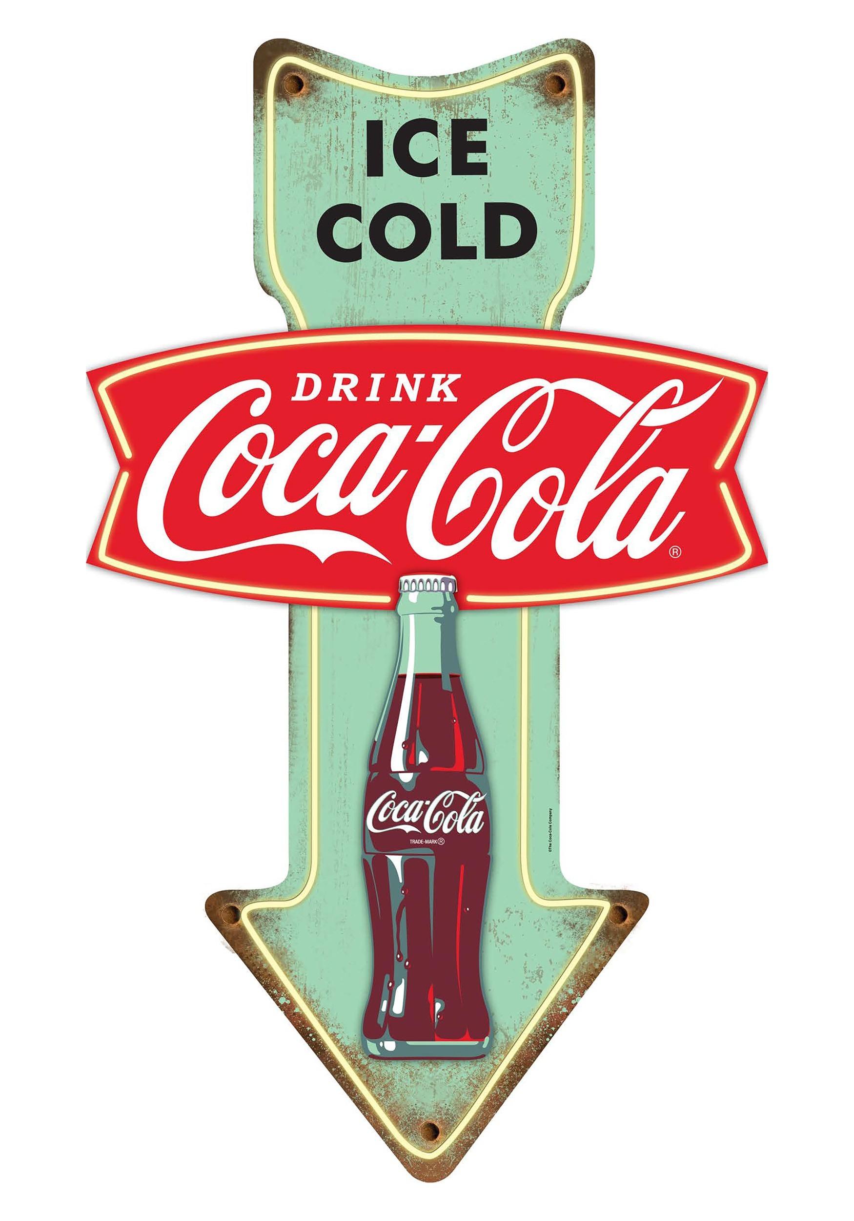 Coca Cola Ice Cold Tin Sign