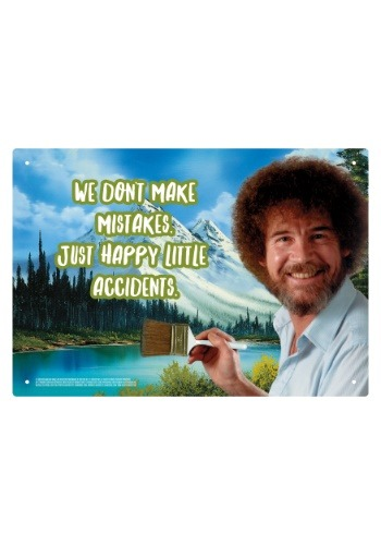 Bob Ross Painting - Happy Little Accidents Sign