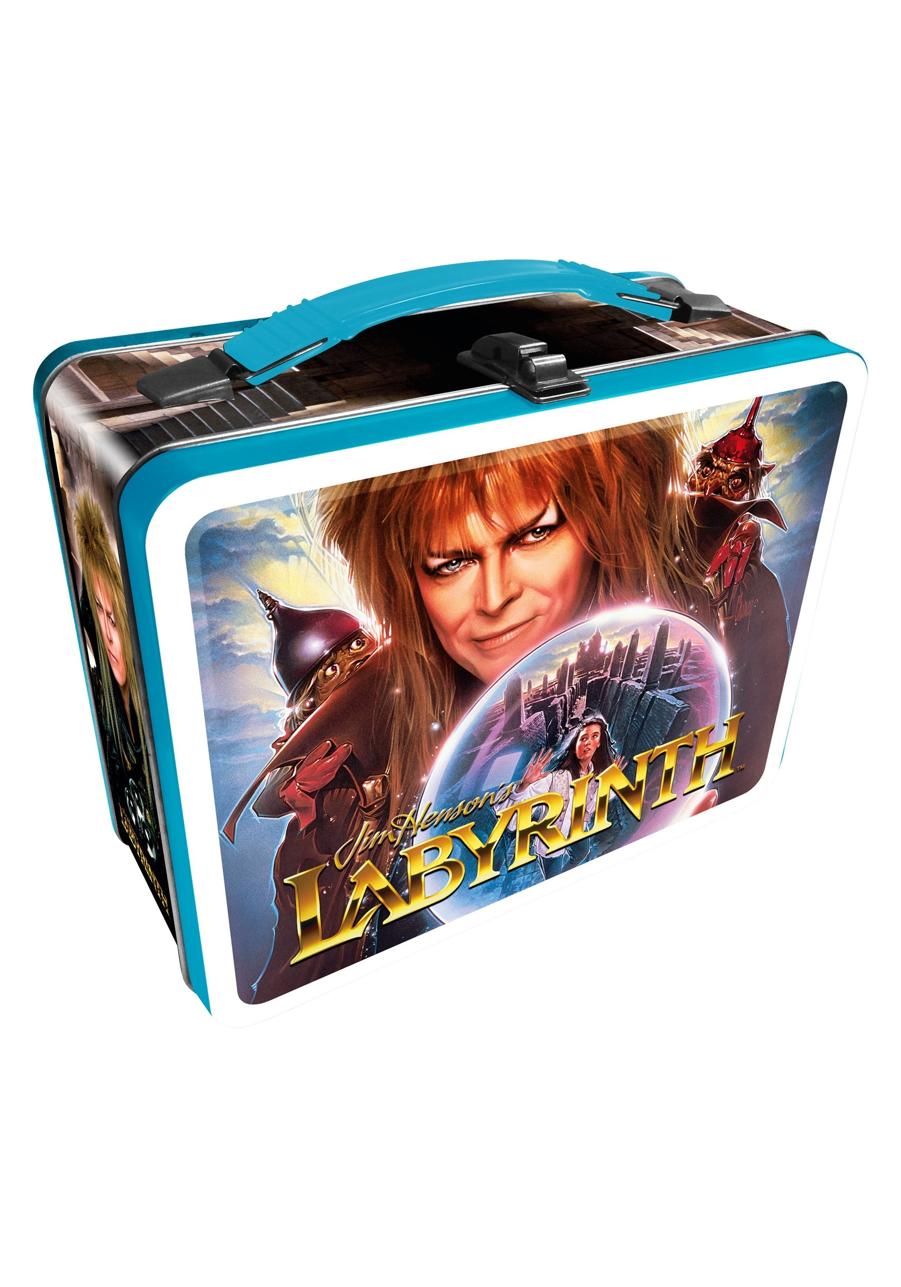 80s labyrinth metal lunch box