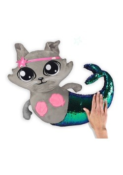 Reversible Sequin Mer-Cat Pillow