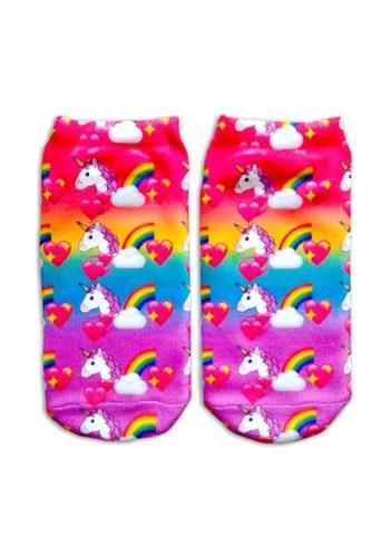 Unicorn Print Kids Ankle Sock