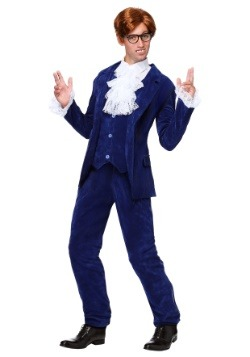 Deluxe Blue 60's Swinger Mens Costume Update Main