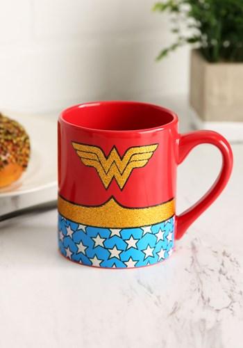 Wonder Woman Uniform Sparkle Glitter Ceramic Mug Update
