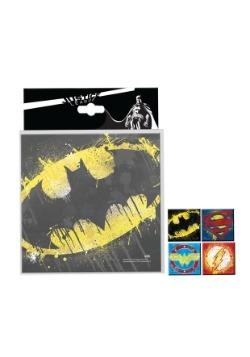 DC Comics Splatter Paint Logo 4pc Coaster Set