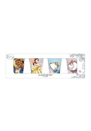 Beauty and the Beast 4 pc Mini Glass Set