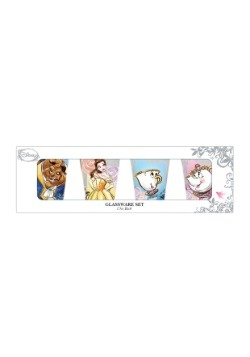Beauty and the Beast 4 pc Mini Glass Set