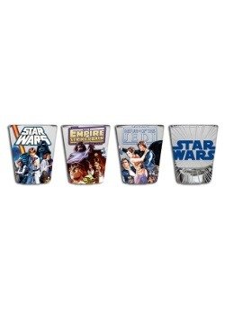 Star Wars Original Trilogy 4 pc Mini Glass Set1