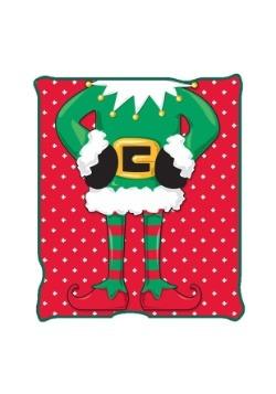 """Ugly Christmas Elf 50"""" x 60"""" Throw Blanket"""