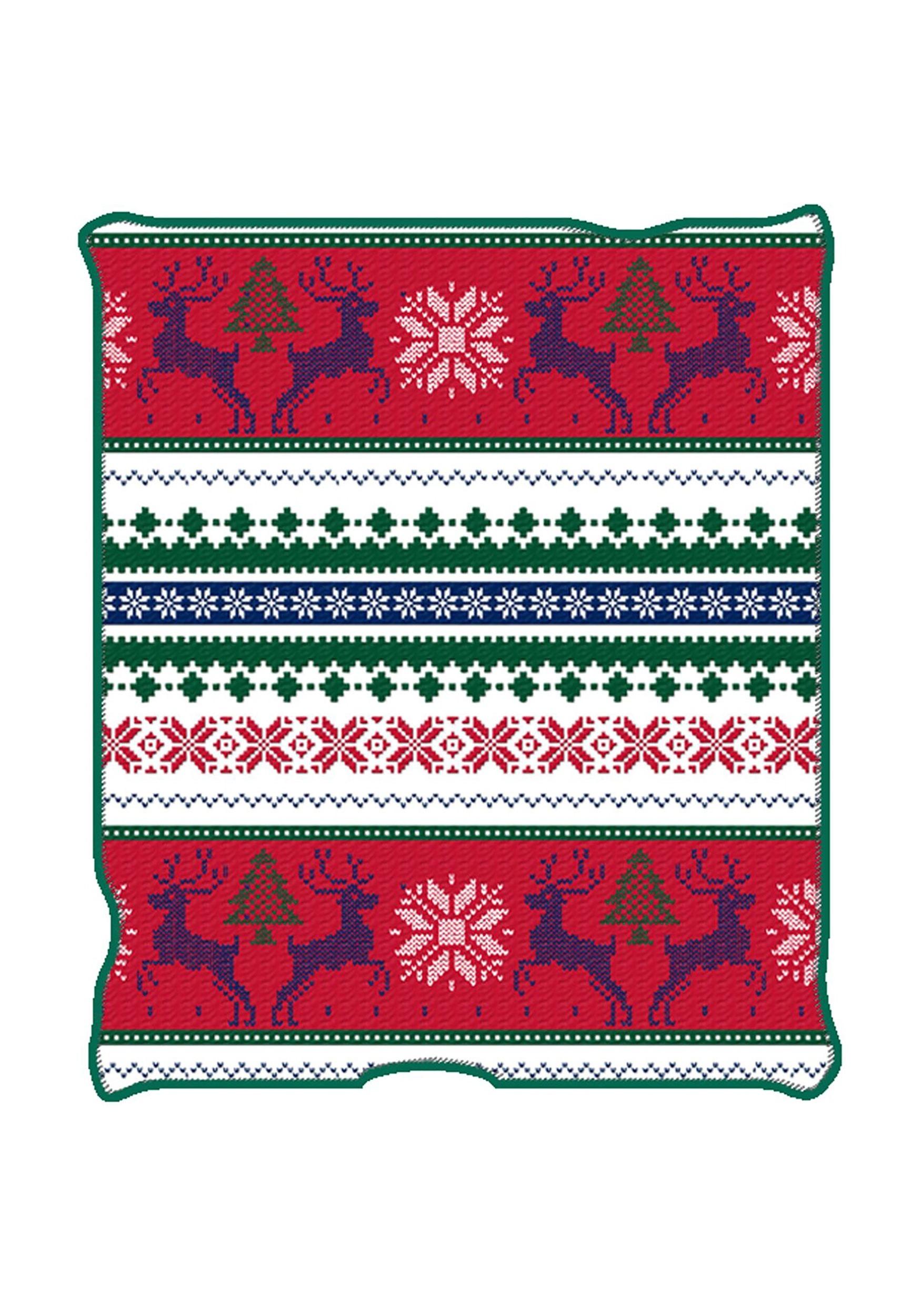 ugly christmas reindeer print 50 x 60 throw blanket