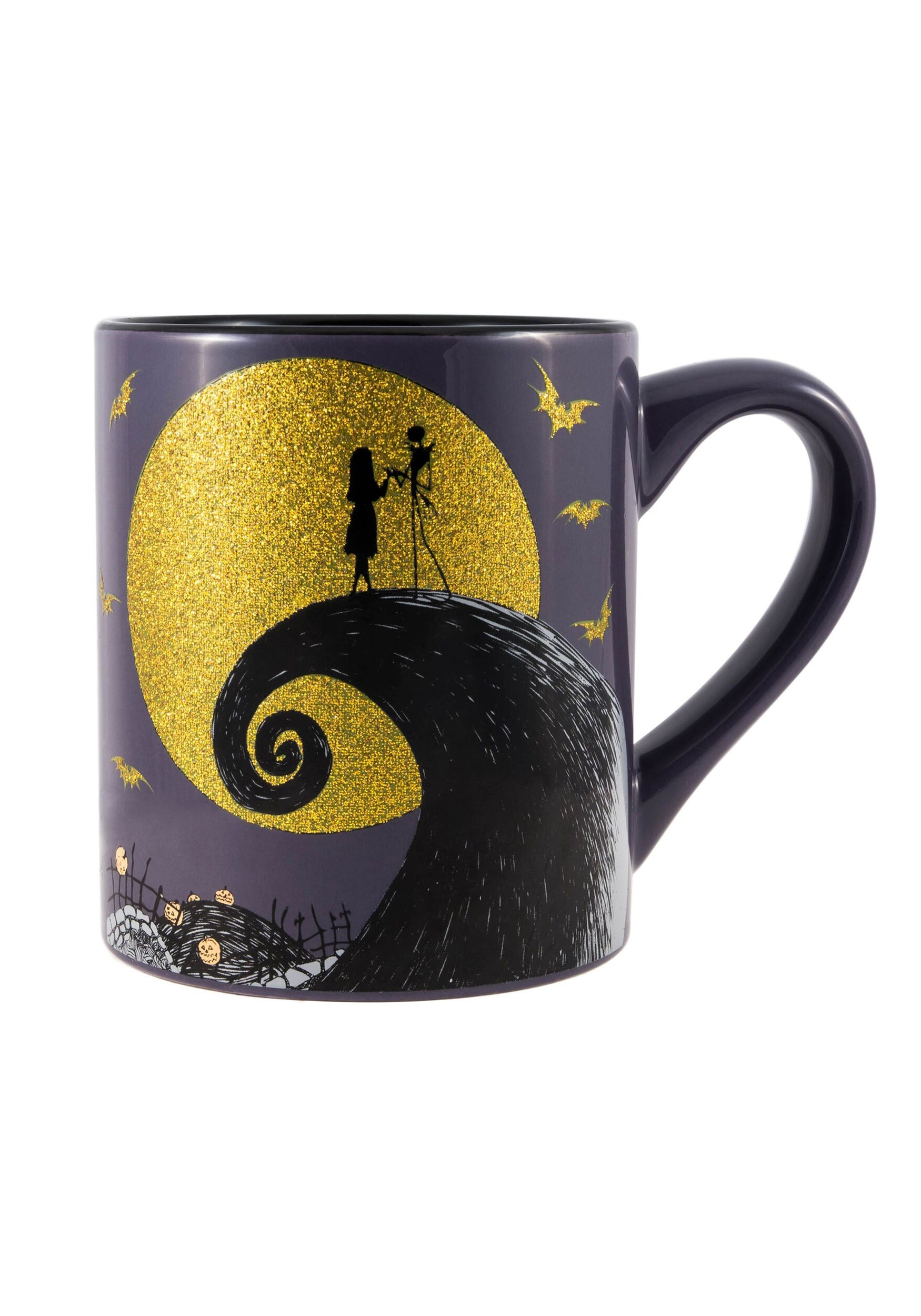 Nightmare Before Christmas Moon Scene 14oz Glitter Moon Mug