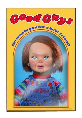 """Chucky Good Guys 13"""" x 19"""" Wood Wall Décor Art"""